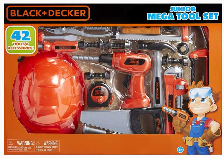 Black & Decker Jr. Mega Tool Set for kids