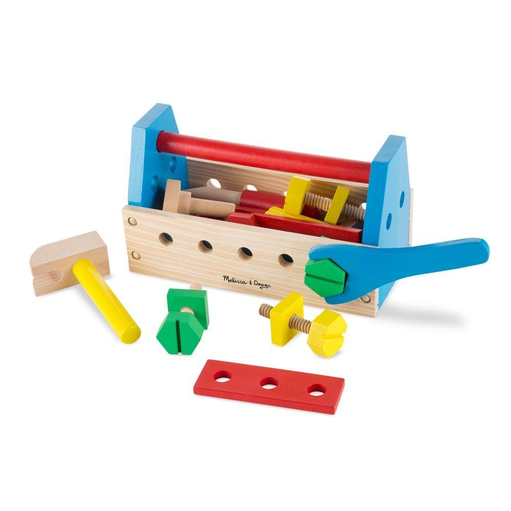 Melissa & Doug Take-Along Tool Kit Wooden Construction Toy