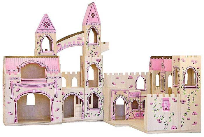 Princess Castle Wooden Dollhouse