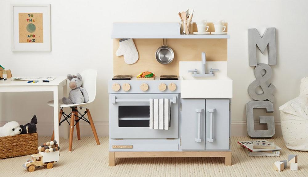 Best Kids Childrens Wooden Play Kitchen Set