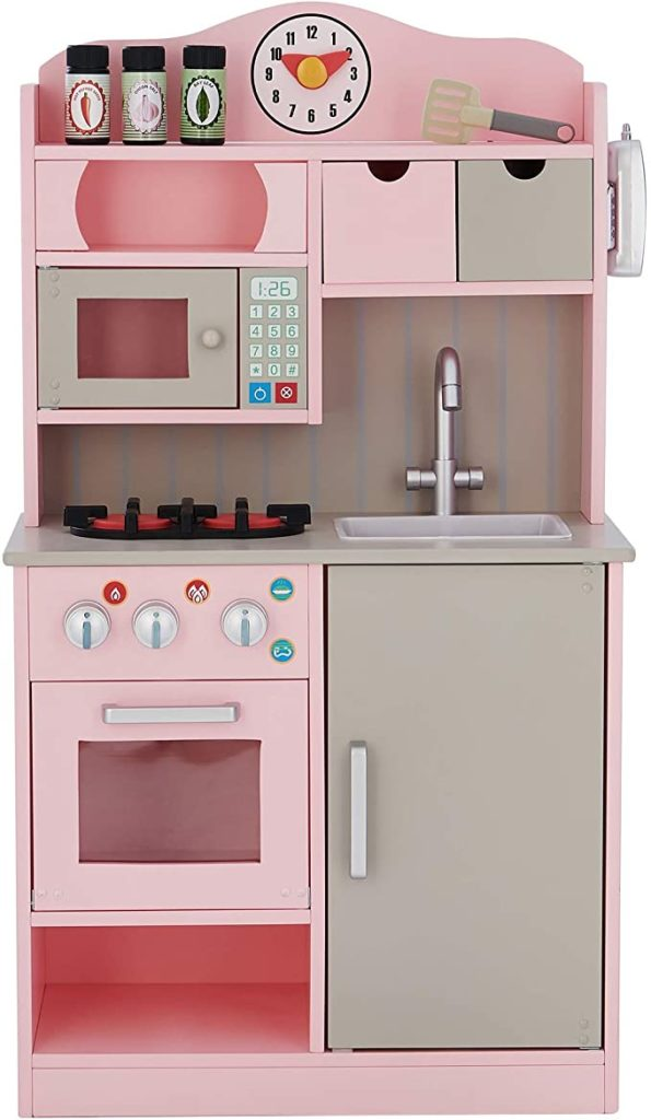 Teamson Kids Little Chef Florence Classic Kids Play Kitchen Toddler Pretend Play Set